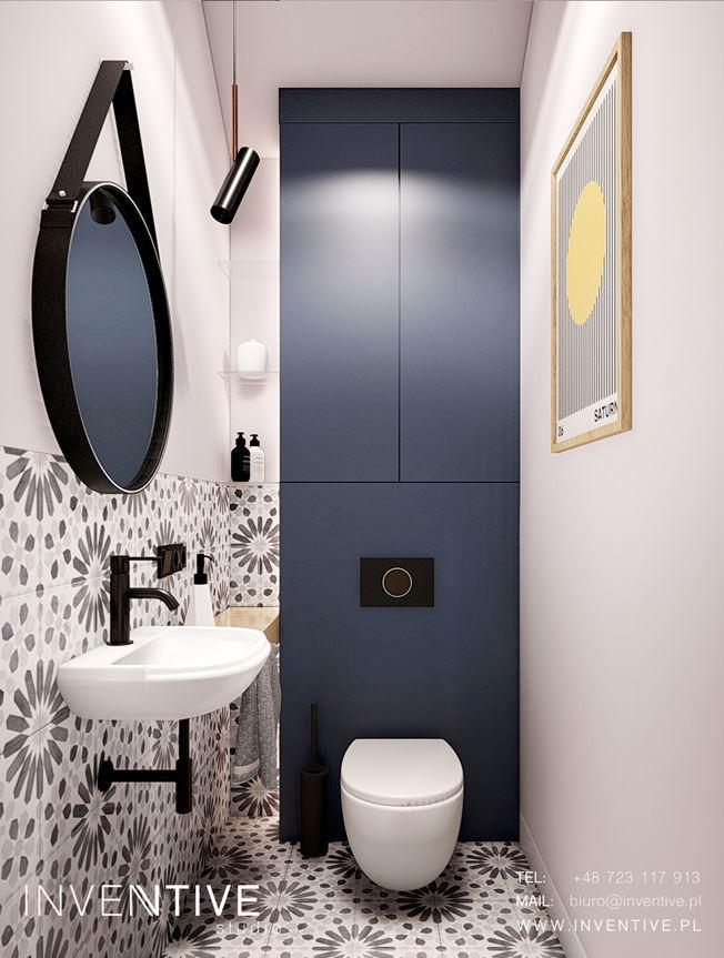 Oddzielna łazienka z muszlą wiszącą