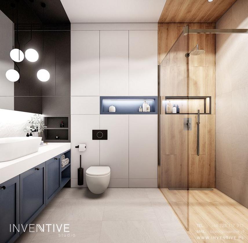 Aranżacja łazienki z imitacją drewnianych płytek