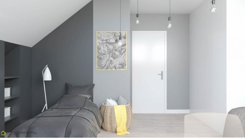 Pokój studenta z przewagą szarego koloru