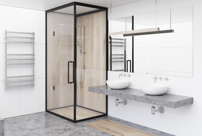 Nowoczesna łazienka z kabiną prysznicową