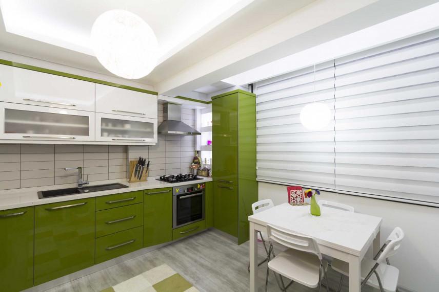 Biało-zielona kuchnia