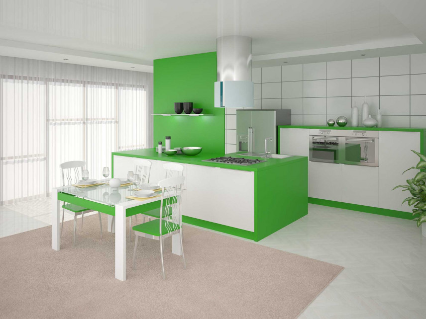 Zielono-biała kuchnia